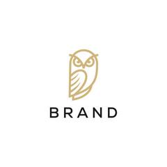owl line logo design
