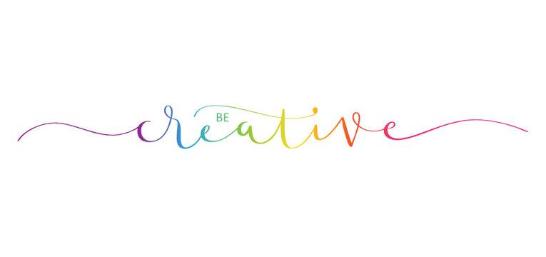 BE CREATIVE brush calligraphy banner