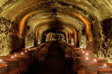 Del Dotto Historic Winery Caves in Napa Valley. St. Helena, Napa Valley, California, USA.