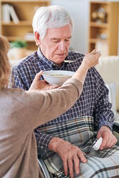 Dinner in retirement home
