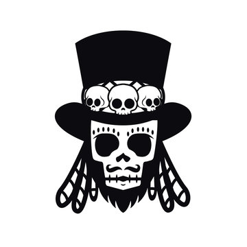 Papa Legba voodoo man Halloween illustration vector