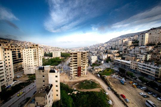 Nablus city centre, West Bank, Palestine