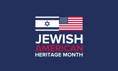 Jewish American Heritage Month. Celebrated in May. Annual recognition of Jewish American achievements in and contributions to the United States of America. Poster, card, banner and background. Vector Fotomurales