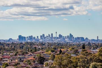 Sydney City Skyline and Suburbs from South West Fotoväggar