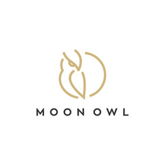 owl vector illustration logo design
