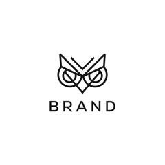 geometric owl eye vector logo design