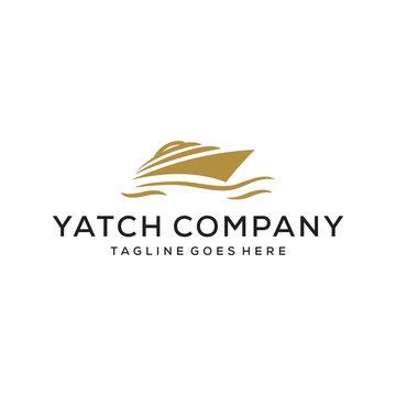 yacht vector illustration logo design