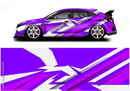 Wrap livery decal car vector , supercar, rally, drift