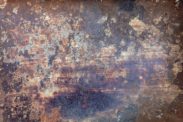 Foto op Aluminium Metal Old Weathered Rusty Metal Texture