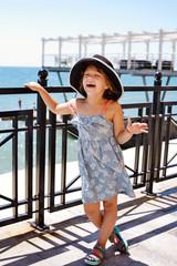 little girl near the  sea