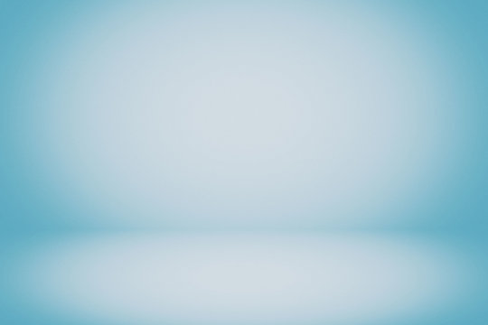 Abstract Luxury Light Blue Room Background Using for Product Presentation Backdrop.