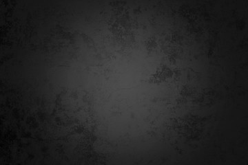 Old Grunge Black Texture Concrete Wall Background.