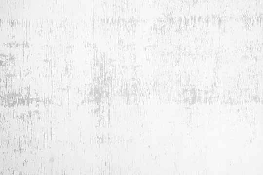 White Grunge Painting on Wooden Wall Texture Background.