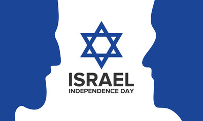 Israel Independence Day. National day of Israel. Annual holiday, national celebrations. Poster, card, banner and background. Vector illustration