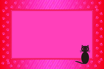 背景素材壁紙,写真フレーム,メッセージ枠,猫,足跡,肉球,ペット #Background #wallpaper #Vector #Illustration #design #free Photo frame,picture frame,copy space,character,text,message,title,sign,party,name plate,card,price tag
