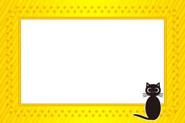 背景素材壁紙,写真フレーム,メッセージ枠,猫,足跡,肉球,ペット,コピースペース,動物病院,広告宣伝