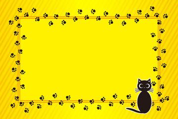 背景素材壁紙,写真フレーム,メッセージ枠,猫,足跡,肉球,ペット #Background #wallpaper #Vector #Illustration #design #free Photo frame,picture frame,copy space,character,text,message,title,sign,party,name plate,card,price tag
