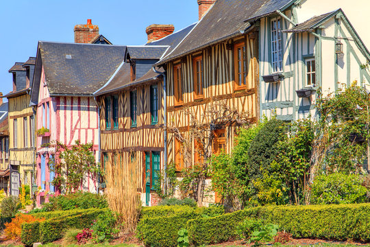 The village of Le bec hellouin Normandy, France