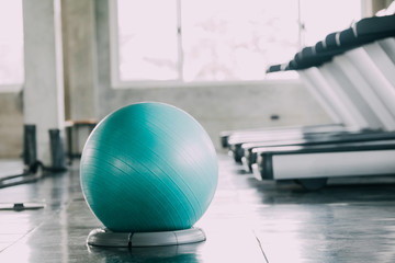 pilates ball  in gym