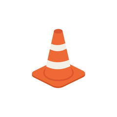 Traffic cone vector isometric illustration