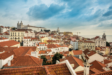 View Of The City From Alfama; Lisbon, Portugal