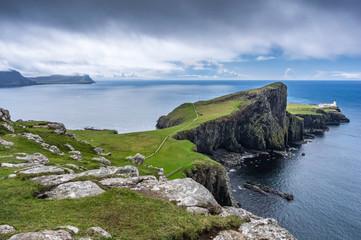 Neist Point Peninsula On The Isle Of Skye; Isle Of Skye, Scotland