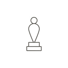 Award, human, oscar vector icon. Element of simple icon for websites, web design, mobile app, info graphics. Thick line icon for website design and development