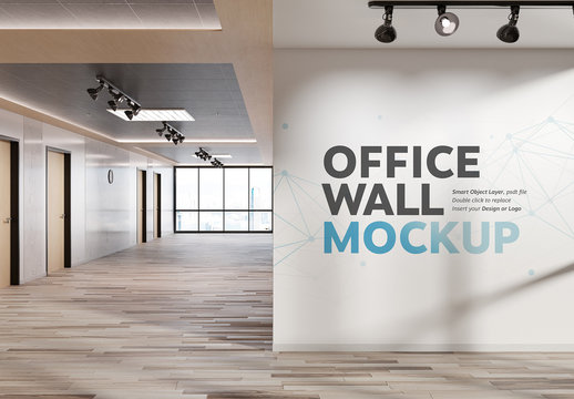 White Wall Corner in Modern Firm Mockup