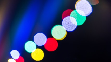 Christmas background. Abstract background with bokeh defocused lights. Russia