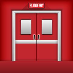 Fire Exit Door. Vector Illustration