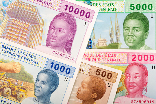 Full set of Central African money, a business background