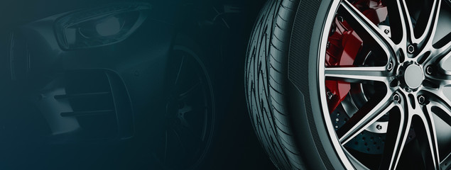Banner For Car Wheel Business..