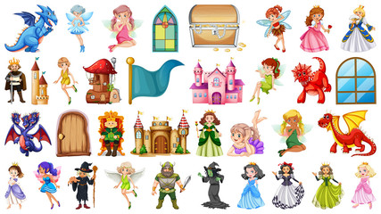 Door stickers Kids Set of medieval character