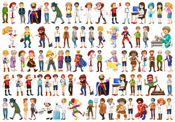 Set of people character