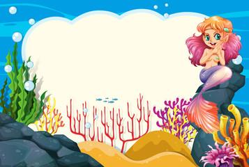 A mermaid underwater frame