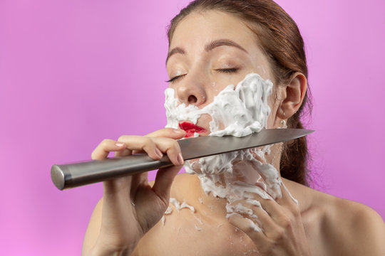 woman has shave