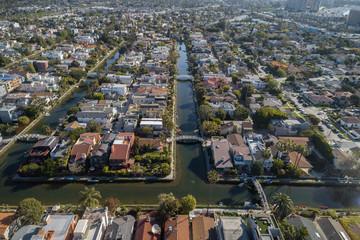 Venice Canals in California.