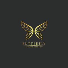 Luxury and elegant Butterfly logo - Vector logo template