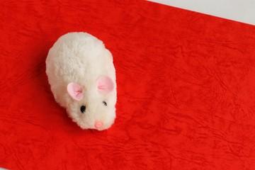 年賀状素材、干支のネズミ