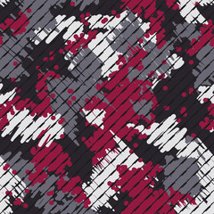Abstract modern geometric digital texture background. Endless striped camo ornament. Vector illustration.
