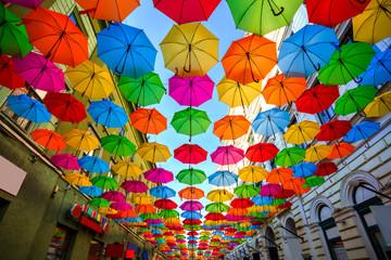 Colorful umbrellas Wall mural