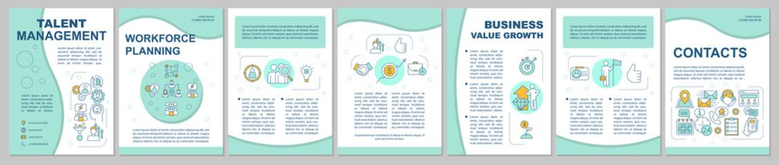Talent management brochure template layout
