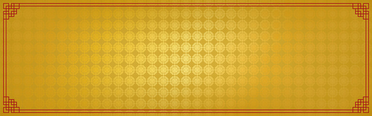 chinese new year banner, abstract oriental background, golden square window inspiration, vector illustration