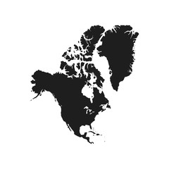 north america map background vector