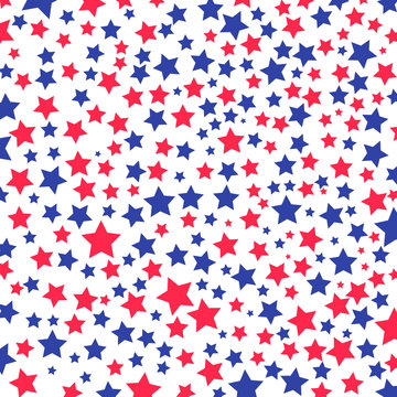 Background with stars in the American flag theme.