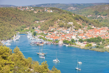 Skradin, Croatia - Visiting the the beautiful old town of Skradin