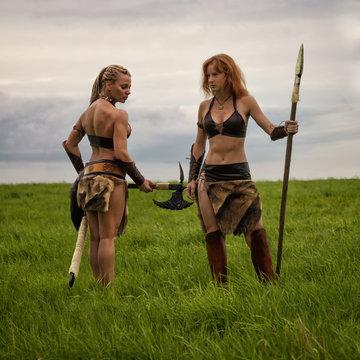 Ancient warrior female barbarian.
