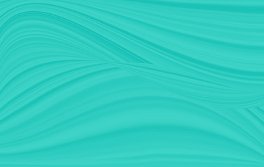 A wave pattern of white and blue. The background is turquoise with streaks and curved lines.
