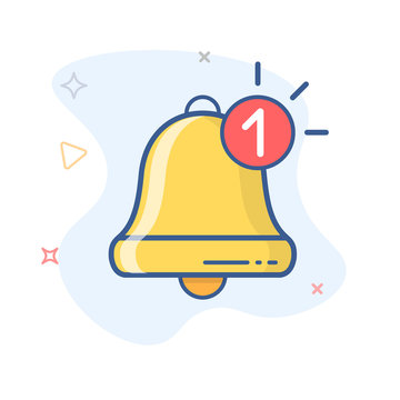 New notification icon vector. New message. Bell vector outline icon.