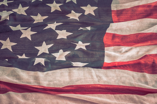 National Patriotic symbols. The old American flag.